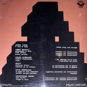 Various Artists - Musica In rilievo (1972) Beautiful Black Butterfly Records back