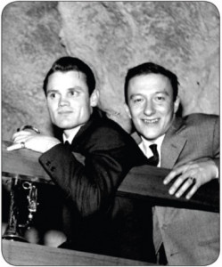 Chet Baker and Amedeo Tommasi in the 1960s (photo from Tommasi myspace.com site)