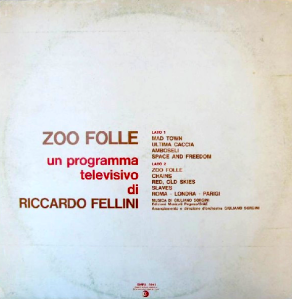 Giuliano Sorgini - Zoo folle (1974) Ricordi back