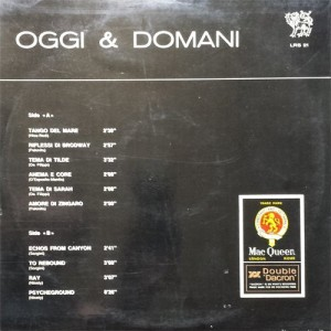 Oggi & Domani - MacQueen (early 1970s) Leo Records back