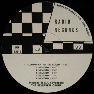 The Reverberi Group - The Reverberi Group (1972) Radio Records label B