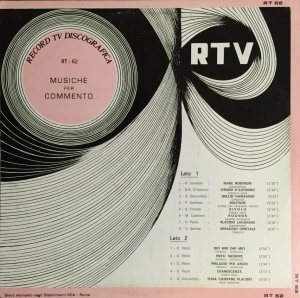 Various Artists - Musiche per commento (1971) Record TV Discografica