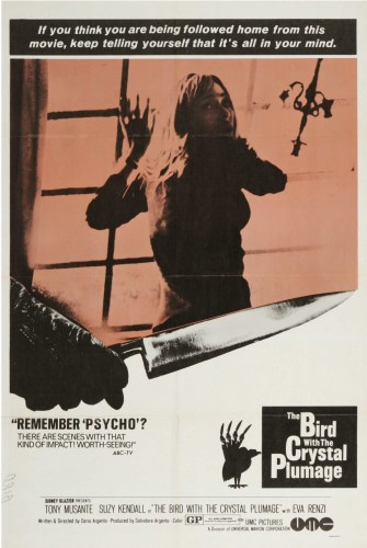 Dario Argento's The Bird With The Crystal Plumage (1970) film poster
