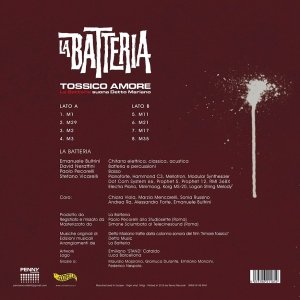 La Batteria - Tossico amore (2016) Penny Records back