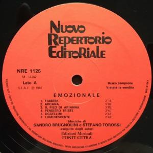 Sandro Brugnolini and Stefano Torossi - Strumentali: Emozionale (1987) Fonit Cetra label A