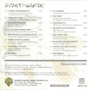 Federico Arezzini and Stefano Torossi - Avant-Garde (2000) Warner-Chappell back
