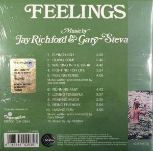 Jay Richford and Gary Stevan - Feelings (2016 Reissue) Schema (1974) back