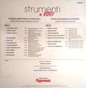 Gruppo Sound - Strumenti e voci (1988) Flower/Fonit Cetra back