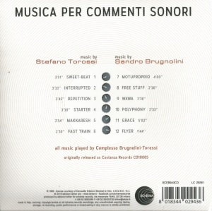 Sandro Brugnolini and Stefano Torossi - Musica per commenti sonori (2016 Reissue) Schema back