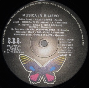 Various Artists - Musica in Rilievo (1972) BBB label B
