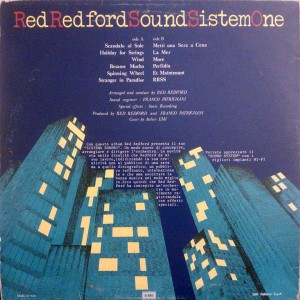 Red Redford Sound Sistem One - RRSSONE (1976) EMI back