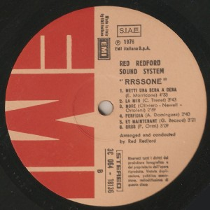 Red Redford Sound Sistem One - RRSSONE (1976) EMI label B