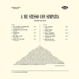 Giacomo Dell'Orso - A me stesso con simpatia (2016 Reissue) Cinedelic Records (1975) back