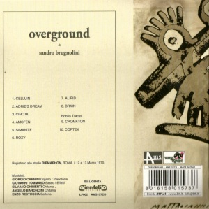 Sandro Brugnolini - Overground (2009 CD Reissue) Cinedelic Records (1970)