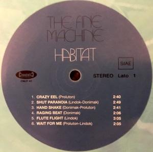 The Fine Machine - Habitat (2016 Reissue) Cinedelic Records label A