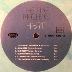 The Fine Machine - Habitat (2016 Reissue) Cinedelic Records label B