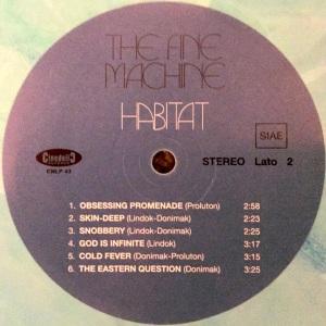 The Fine Machine - Habitat (2016 Reissue) Cinedelic Records label B