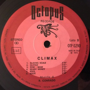 Amedeo Mingi, Piero Montanari, and Roberto Conrado - Climax (1973) Octopus Records label B