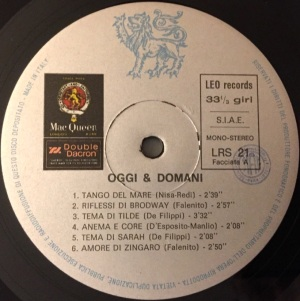 Various Artists - Oggi & Domani (1971) Leo Records label A