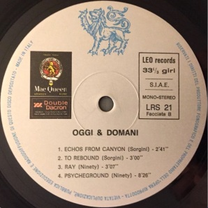 Various Artists - Oggi & Domani (1971) Leo Records label B