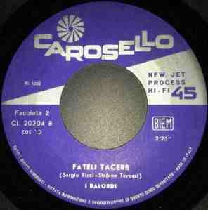 I Balordi - Diamoci la mano : Fateli tacere (1968) Carosello label B