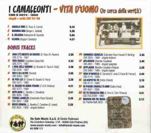 I Camaleonti - Vita d'uomo (in ceerca della verita) (2017) On Sale Music back